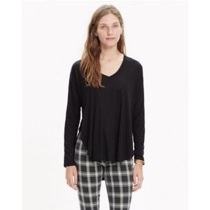 Madewell Women's Size XS Black Anthem Long Sleeve
